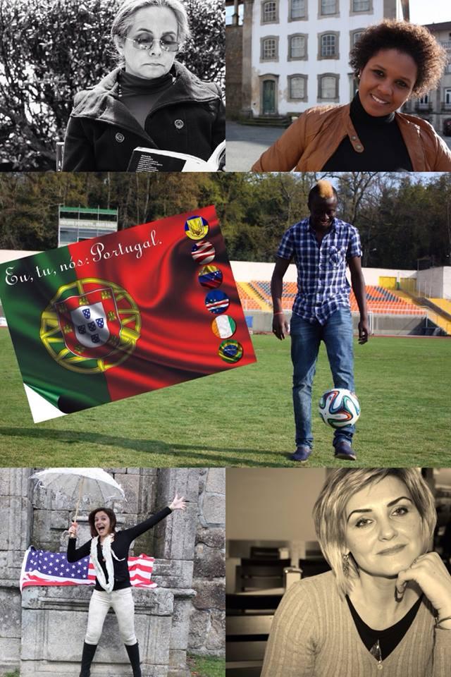 Montagem reúne os cinco personagens do projeto. Crédito: Eu, tu, nós: Portugal