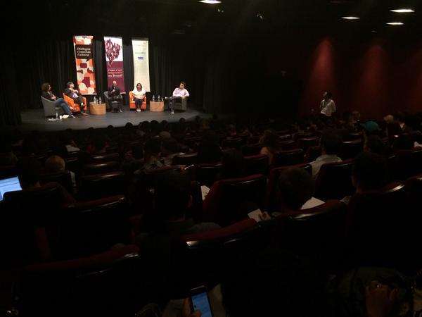 """Conectas promove o debate """"O que é ser migrante no Brasil?"""", em São Paulo. Crédito: Conectas"""