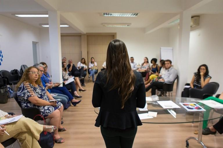 Parceiros do projeto Empoderando Refugiadas conversam com empresas para sensibilizá-las à causa do refúgio. Crédito: Pacto Global Brasil/Divulgação
