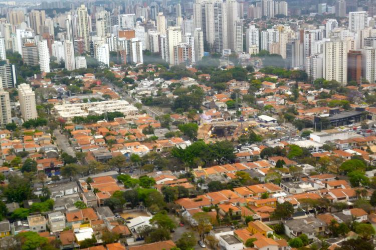 Vista de parte da cidade de São Paulo. Crédito: Heike Drotbohm