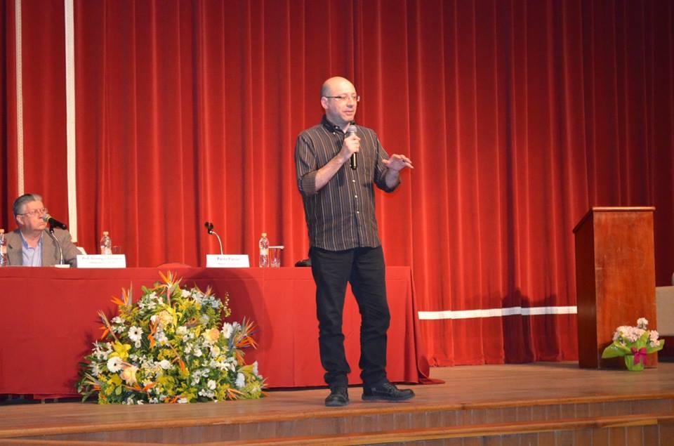 Padre Paolo Parise, da Missão Paz, foi um dos presentes ao evento. Crédito: UNISAL São Paulo/Santa Terezinha