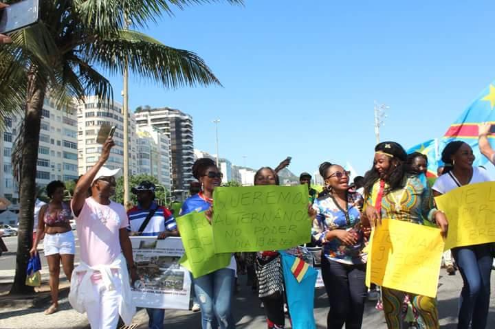 Sensibilizar os brasileiros para a situação no Congo foi um dos objetivos do ato. Crédito: Divulgação