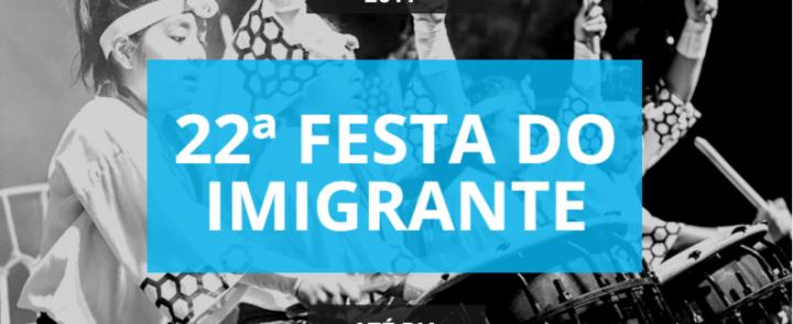 Já estão abertas as inscrições para a Festa do Imigrante 2017; prazo vai até 31 de janeiro