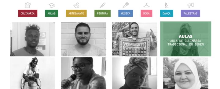 Plataforma Conectados divulga serviços de migrantes e promove trocas culturais