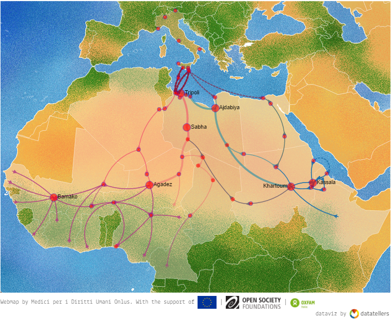 Map details migratory routes from north of africa to italy migramundo the map details the way made by the migrants from the north of africa up to italy credit esodi gumiabroncs Image collections