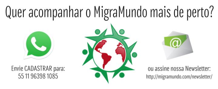WhatsApp, newsletter e redes sociais: veja como não perder nada do MigraMundo