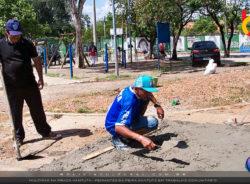 Migrantes fazem mutirão de limpeza e manutenção na Praça Kantuta