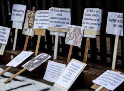 Imigrantes em SP protestam contra tráfico e leilão de pessoas na Líbia