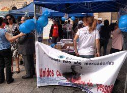 """No centro de São Paulo, ato lembra que """"pessoas não são mercadorias"""""""
